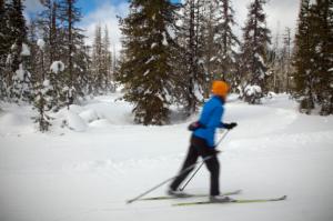 Skier Avoids Frost Bite